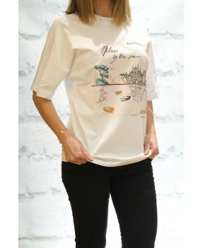 Camiseta Paisaje Trussardi...